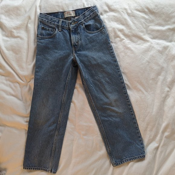 LEVI Jeans Straight-Leg Cropped!
